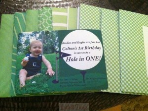 Birdies and Eagles are fun, but Colton's 1st Birthday is sure to be a Hole in ONE!