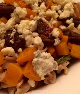 Sage Butter Pasta with Figs & Butternut Squash